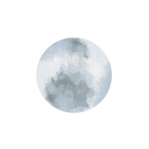water color full moon astrology of happiness